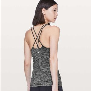 Lululemon Free to Be Tank Nulu Twillines Ice Grey